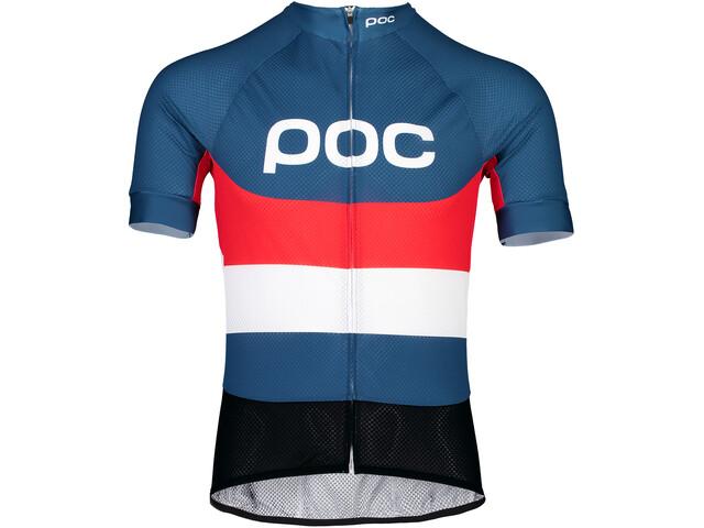 POC Essential Road Logo Jersey Hombre, prismane multi red